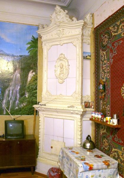 Печь голландка в квартире г. Санкт-Петербург, наше время.