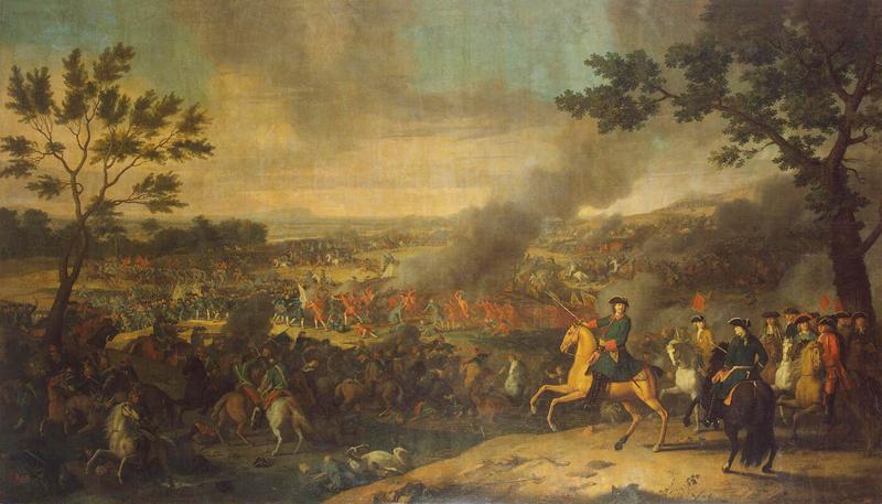 Луи Каравак. Пётр I в Полтавской битве. 1718г.