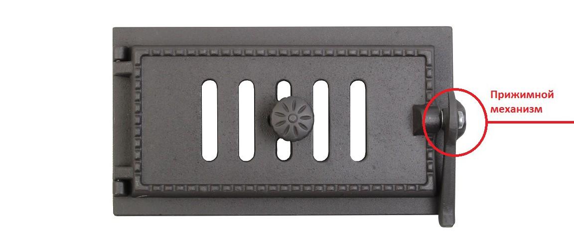 Прижимной механизм на поддувальной уплотнённой дверце ДПУ-3 Завод ЛИТКОМ