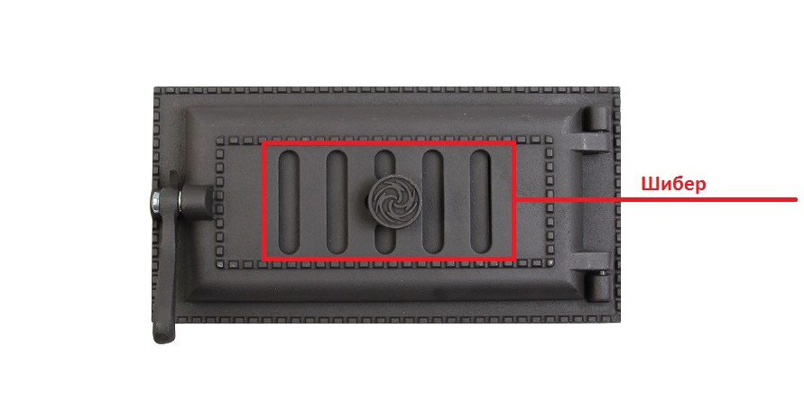 Шибер, вид снаружи. Дверца поддувальная уплотнённая ДПУ-3А Завод ЛИТКОМ.