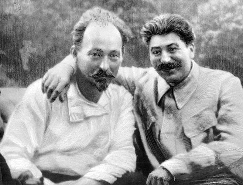 На фото Дзержинский Ф.Э. и Сталин И.В.